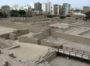 Adobe and clay pyramid Lima