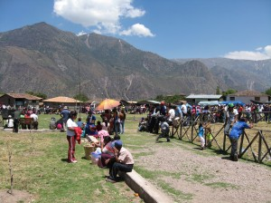 Little market on the road to Andahuaylas, Peru