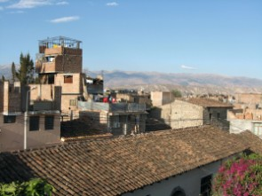Ayacucho rooftops and mountains