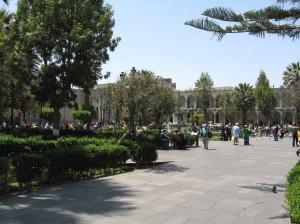 main square arequipa peru