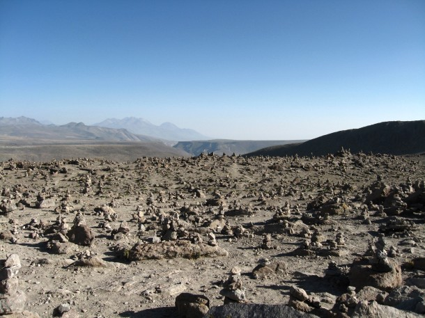 Volcano viewpoint colca canyon peru