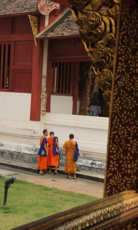 Monks loitering