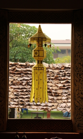 Looking out the wat window