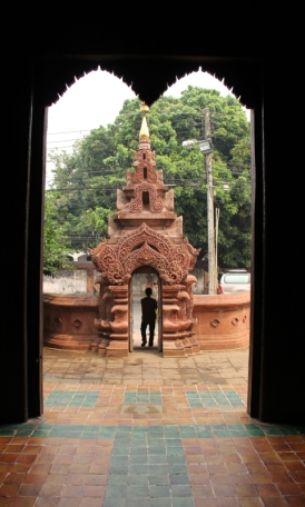 The front gate of Wat Phan Tao