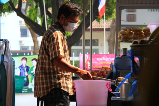 Man cooking lunch in Chiang Mai
