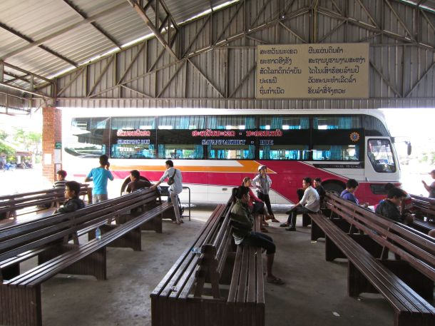 The sleeper bus from Laos to Vietnam
