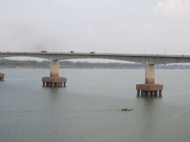 Mekong river Kizuna bridge Kampong Cham Cambodia