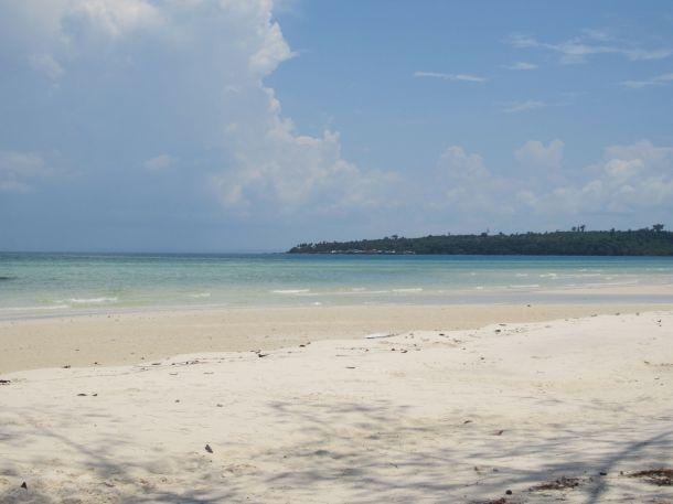 paradise island Cambodia white sand beach