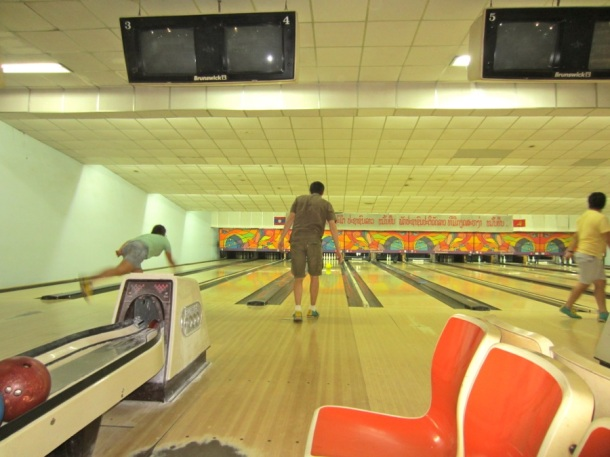 bowling in Vientiane Laos