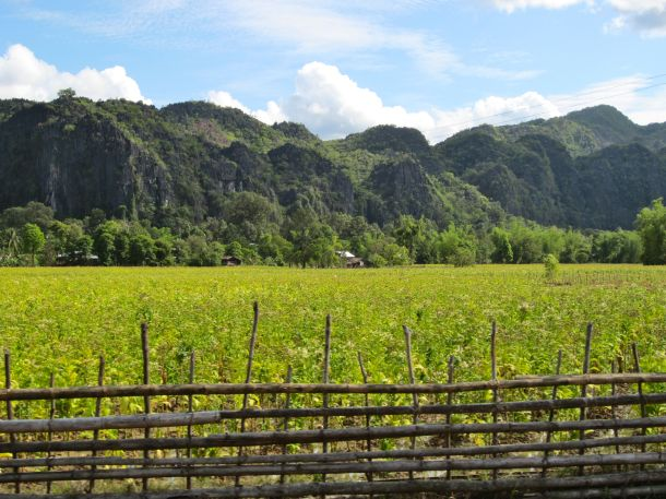 Drive to Kong Lor Laos