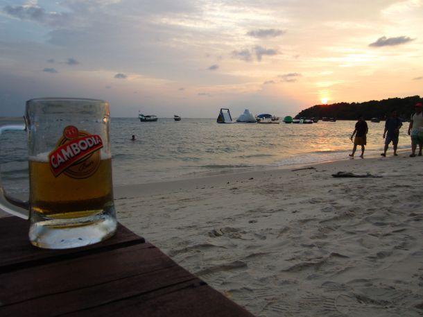 Sunset Ochheuteal Beach, Sihanoukville, Cambodia