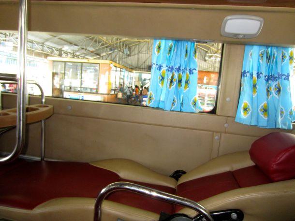 sleeper bus Laos seat photo