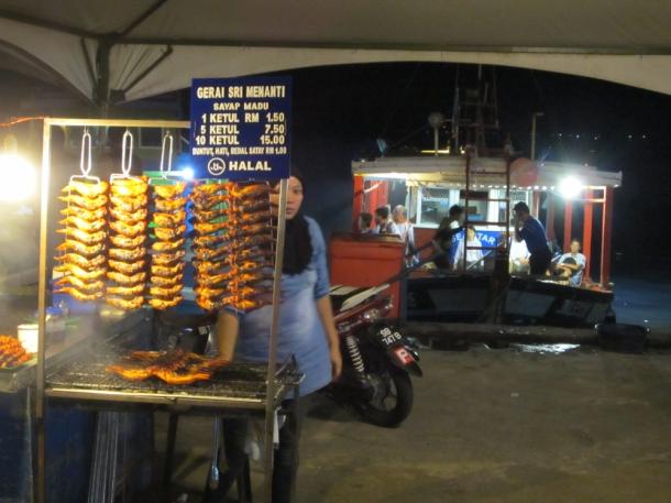 Kota Kinabalu Borneo Malaysia night market