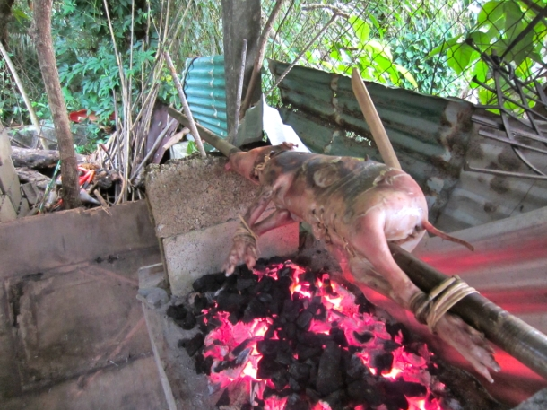 pig roast el nido palawan philippines