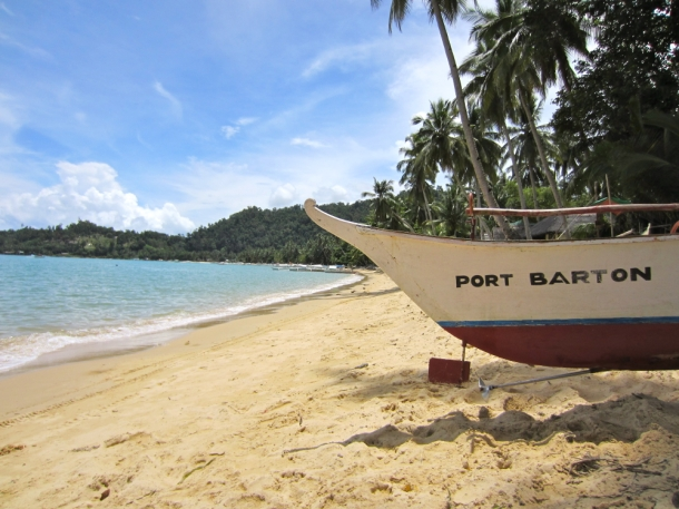 Boat Beach Port Barton Palawan Philippines
