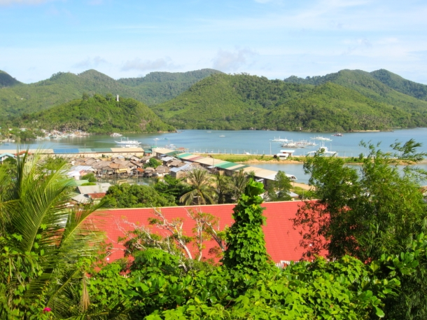 View of Taytay from Casa Rosa Guesthouse, Palawan, Philippines