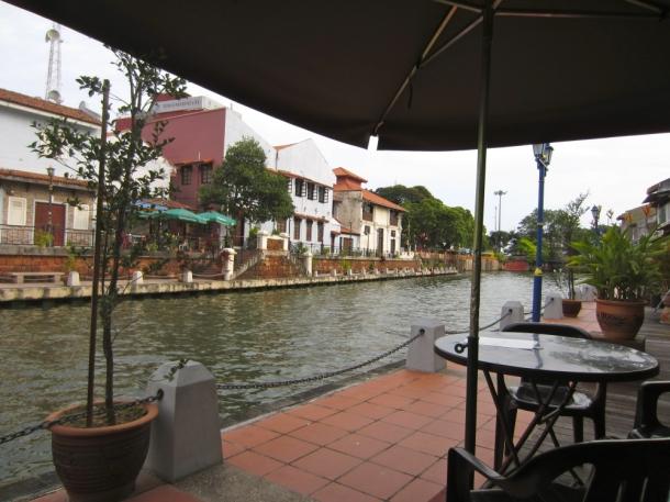 Canal cafe, Melaka, Malaysia