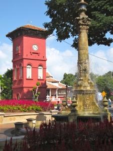 Dutch Square clock tower, Melaka, Malaysia