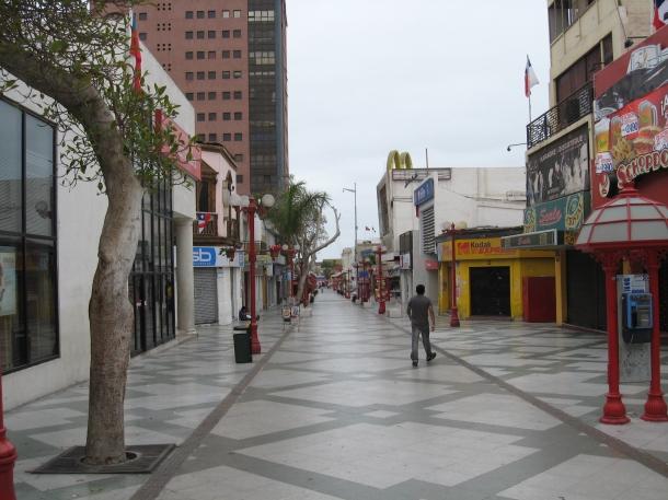 Pedestrian zone, Arica, Chile