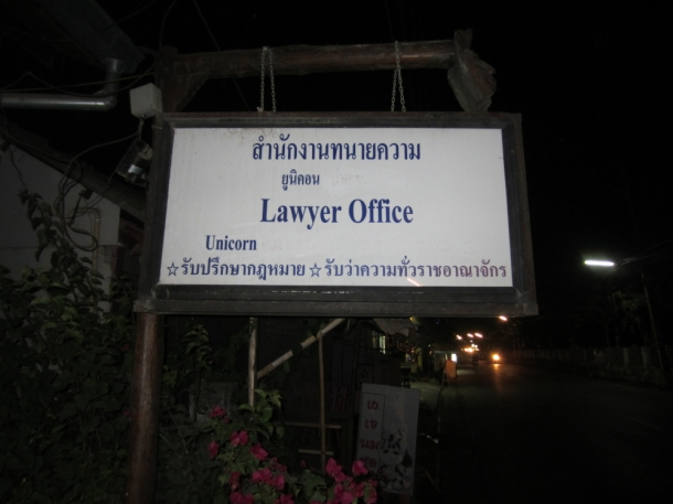 lawyer sign Pai Thailand