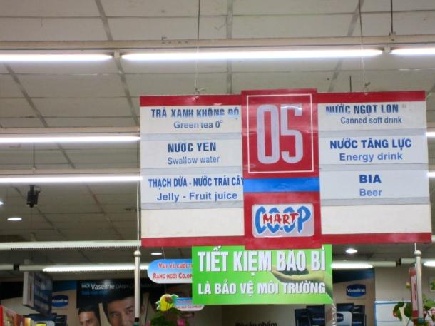 Coop grocery store Vietnam
