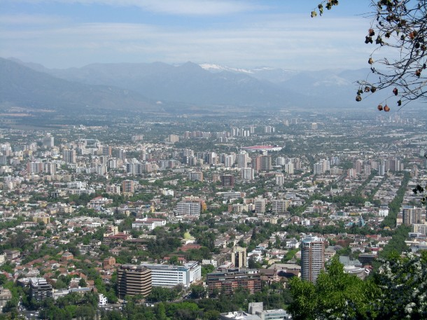 View of Santiago from Cerro San Cristobal.