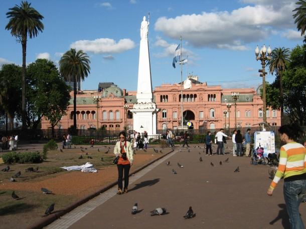 Casa Rosada Plaza de Mayo where Eva Perón often used the balcony to address the people.