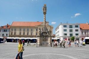 Trnava Peace square plague pillar Slovakia